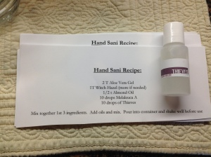 hand sanitizer recipe